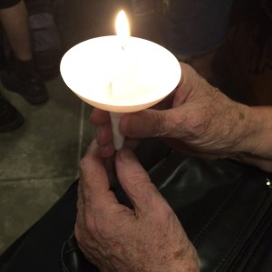 Old Woman's Hands and candle
