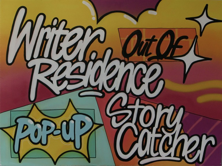 Writer Out Of Residence sign - rectangular