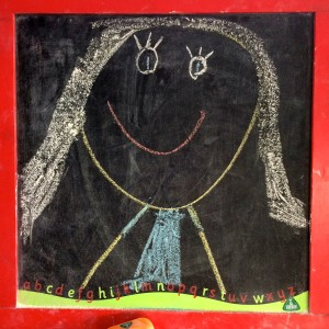 Chalk drawing of Maman by Aria April 2015